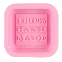 quality first Cute Craft Art Square Silicone Oven Handmade Soap Molds DIY Soap Mold 1pc 10IT