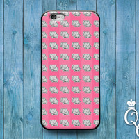 iPhone 4 4s 5 5s 5c 6 6s plus + iPod Touch 4th 5th 6th Gen Fun Cover Cute Pink Elephant Pattern Custom Funny Case Fun Cool Pretty Girly Girl