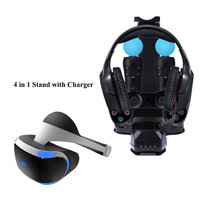 4 in 1 Stand with Charger Charging Station for PS4 PlayStation 4 PS VR Camera Headset Dual Vibration 4 Move Controller