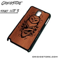 Owl Wood Case For Samsung Galaxy Note 3 Case