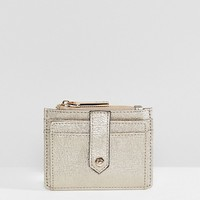 Dune Kollie Metallic Gold Card Holder Purse at asos.com