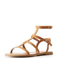 Faux Leather Strappy Sandals | Charlotte Russe