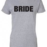bride wife to be wedding marriage Funny T-Shirt Tee Shirt T Shirt Mens Ladies Womens Modern Ron bong joint reefer Will Ferrell Tee ML-155