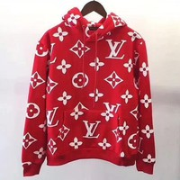 LV Louis Vuitton Hooded Women Fashion Top Sweater Hoodie Sweatshirt-1