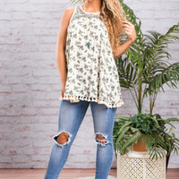 Blooming Fun Tank, Ivory