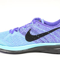 Nike Women's Flyknit Lunar 3 Aqua Green/Blue Running Shoes 698182 402