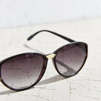 Printed Brow Oval Sunglasses - Urban Outfitters