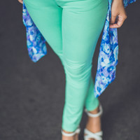 Classic City Skinnies in Mint