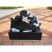 "Air Jordan 6 ""University Blue"" black Basketball Shoes 40-47"