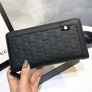 GUCCI New fashion more letter leather wallet purse Black