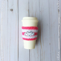 I Heart You Cozy ~ Coffee Cozy ~ Coffee Cozie ~ Reuseable Cup Sleeve ~ Coffeee Cup Cozy~ Sleeve ~