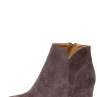 Notch Your Average Grey High Heel Ankle Boots