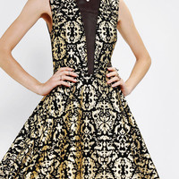 Sparkle & Fade Foil Mesh-Inset Dress - Urban Outfitters