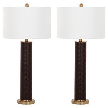 Ollie Faux Snakeskin Table Lamp - Safavieh