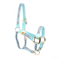 Chantilly Teal High Fashion Horse Halter