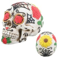 Tattoo Sugar Skull Statue, Day of the Dead 5.25L