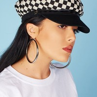 Toni Page Boy Hat (Checkered)