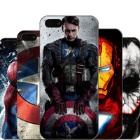 For iPhone 5 5S SE Hard PC Case Captain America iron Man Deadpool Design Fundas Phone Cover For iPhone  5 5s Capa Coque