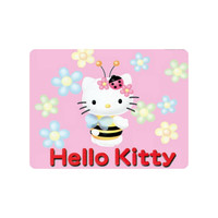Very Nice Mouse Pad Hello Kitty Pink with Flowers