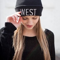 WEST EMBROIDERY BEANIE