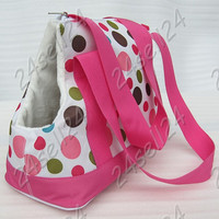 """Pet Outdoor Carrier Travel Carry Dog Cat Bag Puppy Tote Handbag Hot Pink 14.5X6.6X9.8"""" inch T145"""