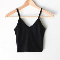 Knit V-neck Cami Crop Top