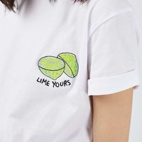 PETITE Lime Yours Tee - Topshop