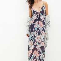 FOREVER 21 Watercolor Floral Cami Maxi Dress