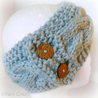 Cable Knit Ear Warmer // Neck Warmer // CHOOSE YOUR COLOR // Chunky Wool Blend Yarn // Fall Fashion Accessories