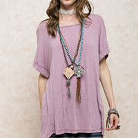 Oversized Tunic Tee, 2 colors