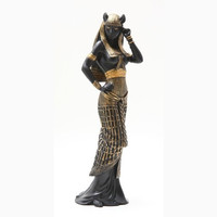 Egyptian Fire Goddess Bastet Statue Deity Cat Bast