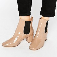 River Island Patent Ankle Boot at asos.com