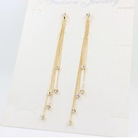 For Women Crystal Statement Earrings Charm Dangle Earrings Jewelry 5 Chain Gold Silver Long Tassel Earrings SM6