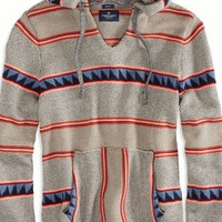 AEO Men's Striped Baja Hoodie (Multi)