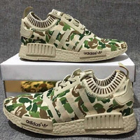 """ADIDAS"" Trending Fashion Casual Sports Shoes Camouflage Green"