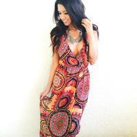 Daytime Morocco Maxi Dress- Coral