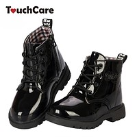 fashion children martin boots girls boys winter shoes kids rain boots Leather Kids Sneakers