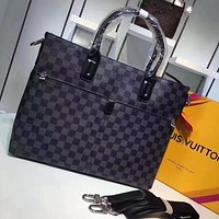 LV Louis Vuitton OFFICE QUALITY MONOGRAM CANVAS BRIEFCASE CROSS BODY BAG