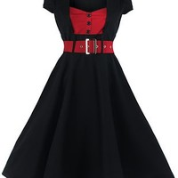 Full Skirt 1950s Pin Up Dress