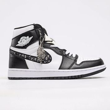 Dior x Nike Air Jordan 1 High Sneakers Basketball Shoes