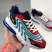 NIKE AIR MAX 270 REACT retro contrast color rear cushioned running shoes sneakers
