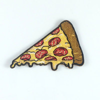 Pizza Slice Patch / Iron-On, Embroidered Patch / Applique