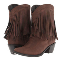 "Roper 8"" Fringe Boot Brown - Zappos.com Free Shipping BOTH Ways"