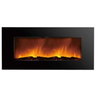 "Clevr 750-2000W 48"" Adjustable Electric Wall Mount Fireplace Heater Log Colors"