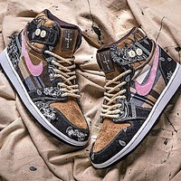 Travis Scott x Nike SB Dunk Low high-top sports running shoes basketball shoes
