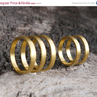 ON SALE Double knuckle ring set - Gold plated brass armor ring set -