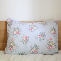 light blue floral pillow case by kellyemeraldhart on Etsy