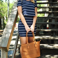 Everything Has Changed Dress: Navy/White - Hope's Boutique