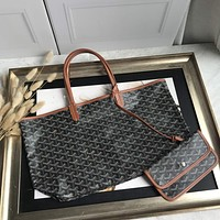 Kuyou Gb69729 Goyard Tote Brown Mini Carry Shopper Bag Picture Size 34*45*13 Cm