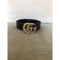 Gucci Belt Black/Gold Size 95 Marmont
